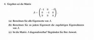Eigenvektoren Berechnen : eigenwerte eigenvektoren mathelounge ~ Themetempest.com Abrechnung