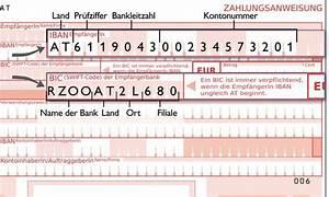 Bic Berechnen Durch Iban : ab august nur mehr berweisung mit iban m glich ~ Themetempest.com Abrechnung