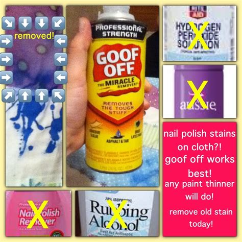 does hydrogen peroxide stain clothes nail polish remover paint thinner and goof off can remove nail polish stain from clothes
