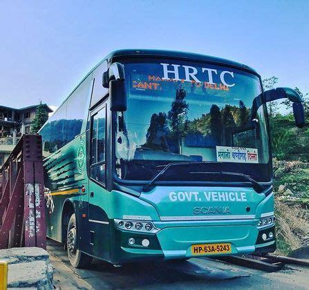 delhi  manali volvo bus route timings fare himachal