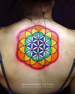 Moonstruck Tattoo: Flower of Life