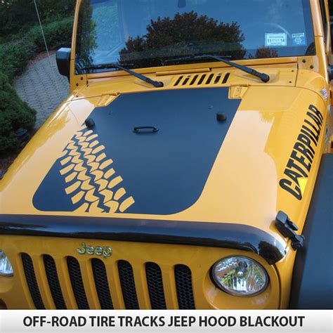 offroad jeep graphics custom off road tire tracks hood blackout decal vinyl