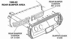 1980-82 Rear Bumper - Diagram View