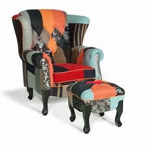 Ohrensessel Bunt Mit Hocker : hocker patchwork finest patchwork furniture living room low back chair with hocker patchwork ~ Bigdaddyawards.com Haus und Dekorationen