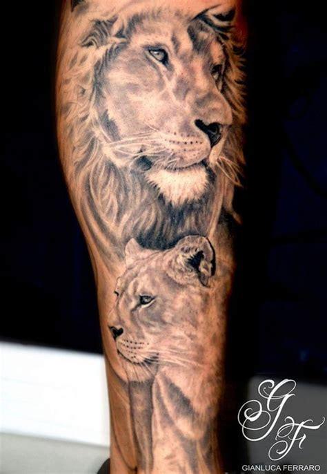 tatouage lion  lionne fille tatouage bras pinterest