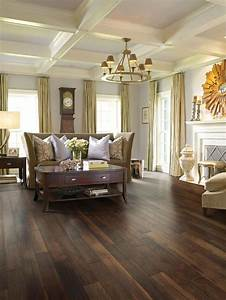 31 hardwood flooring ideas with pros and cons digsdigs for Living room floors