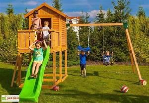 Balancoire Et Toboggan : aire de jeux my house move toboggan cabane ~ Melissatoandfro.com Idées de Décoration