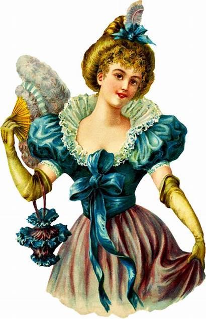 Victorian Clipart Woman Clip Purse Die Ladies