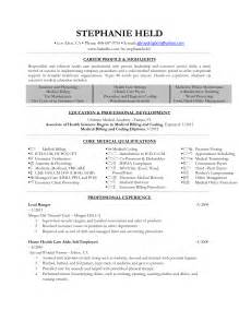 Exle Of Billing And Coding by Billing And Coding Externship Resume Sle