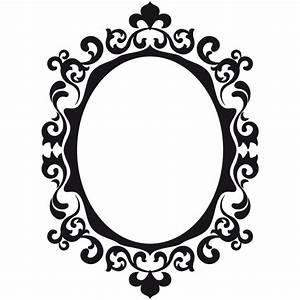 Miroir Baroque Noir : sticker miroir baroque ornement color stickers ~ Teatrodelosmanantiales.com Idées de Décoration