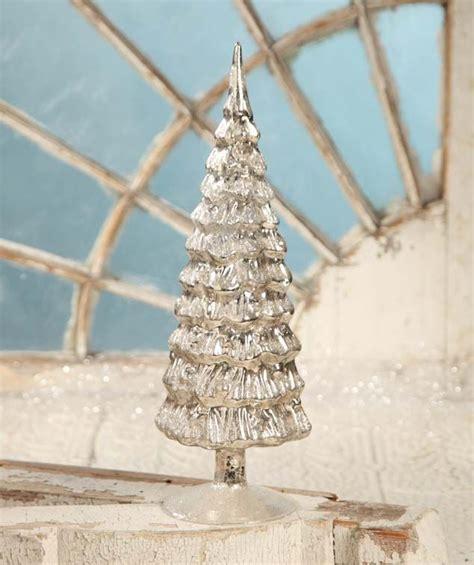 antique silver mercury glass tree christmas pinterest