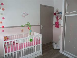 awesome decoration chambre bebe fille gris et rose 2 With deco chambre bebe gris