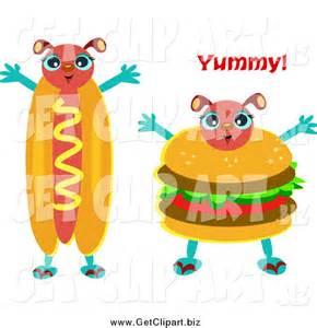 Hot Dog and Hamburger Clip Art