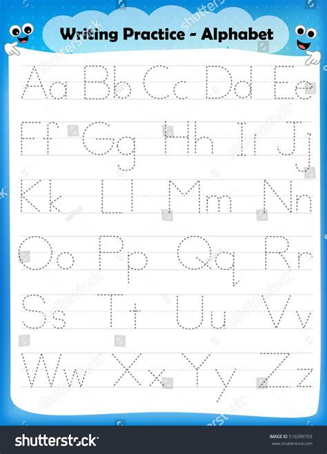 alphabet letters tracing worksheet  alphabet stock