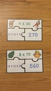 Multiplying Multiples Of 10 Activity Puzzles Ccss 3 Nbt 3