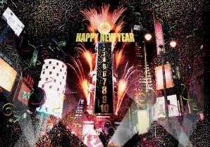 new year destinations new york usa time square and confetti