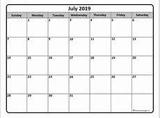 July 2019 Calendar 2018 calendar with holidays