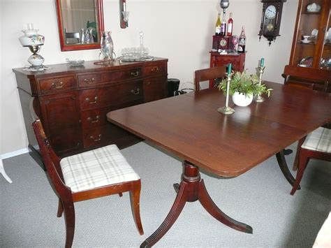 wood dining tables for paramount furniture mahogany dining table and side board 1930