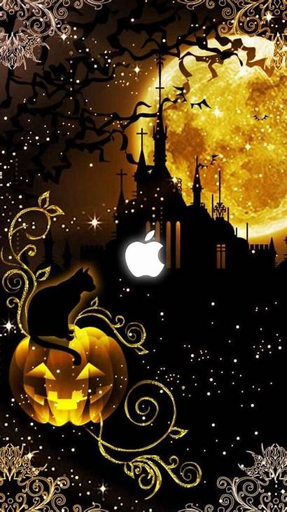 Halloween Backgrounds Iphone Happy Artwork Witches Retro