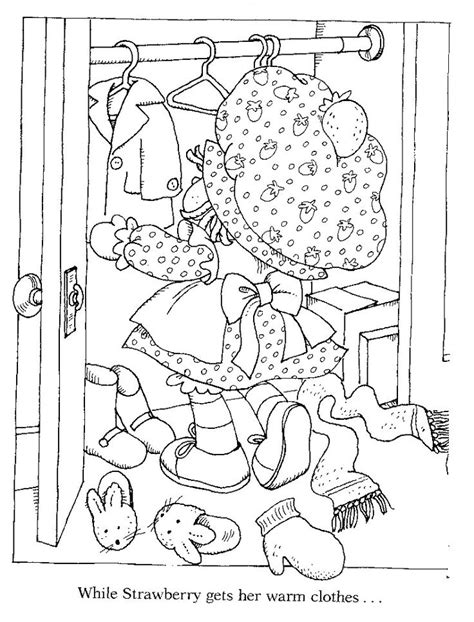 strawberry shortcake coloring pages images  pinterest