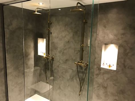 His And Shower by How To Create The Concrete Effect Bathroom For Yourself