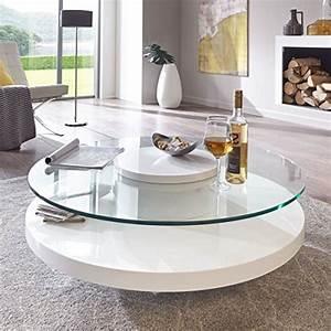 Couchtisch Weiß Glas : couchtisch glas rund wei hochglanz almada lack sicherheitsglas beistelltisch m bel24 ~ Eleganceandgraceweddings.com Haus und Dekorationen
