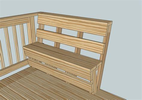deck bench plans custom deck bench and railing kreg owners community