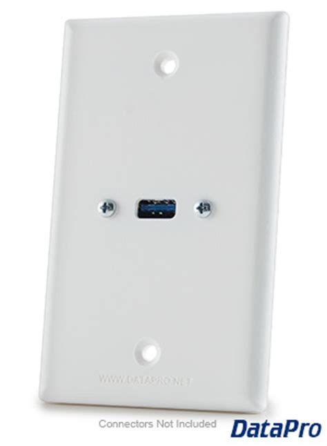 usb wall plate single datapro