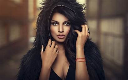 Indian Woman Wallpaperaccess Fur Brunette Hoodie Gorgeous