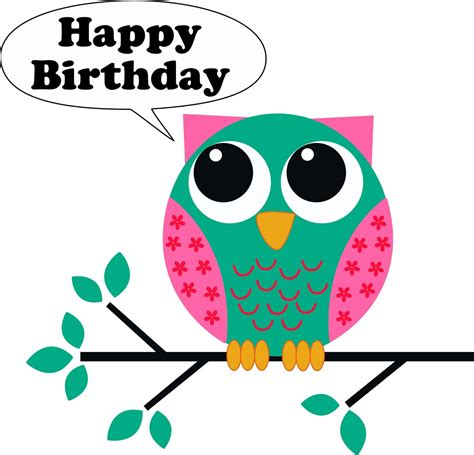 Happy Birthday Owl Images Happy Birthday Owl Clipart Clipart Suggest