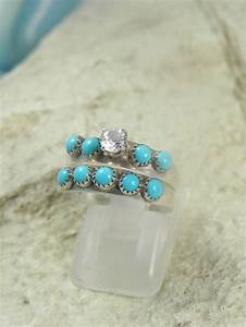 native american turquoise wedding ring set With turquoise wedding ring sets
