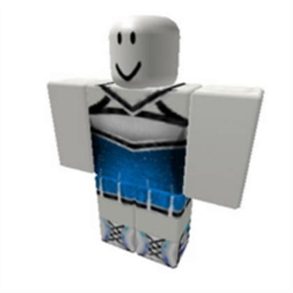 Girls Blue Cheerleading Outfit - Roblox