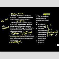 Gmat Reading Comprehension Octave  1 Youtube