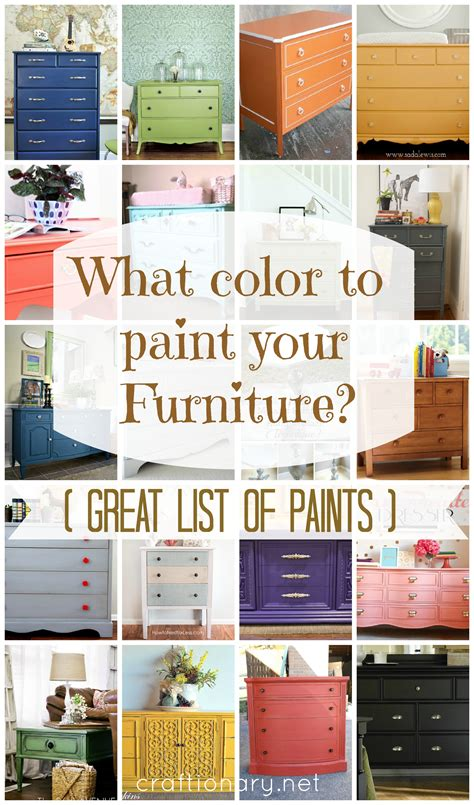 furniture paint colors craftionary