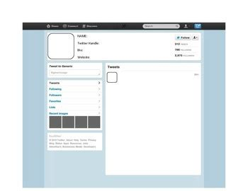 twitter phone template blank twitter template by ms h scholars teachers pay