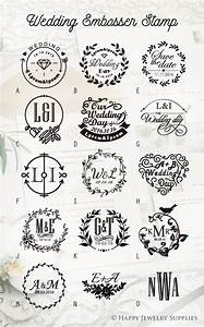 a quantity 1 piece choose style b size brass seal With wedding invitation embossing stamp