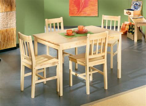 tables de cuisines ensemble table 4 chaises carola pin