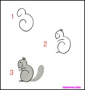 How to Draw a Squirrel Step by Step Easy