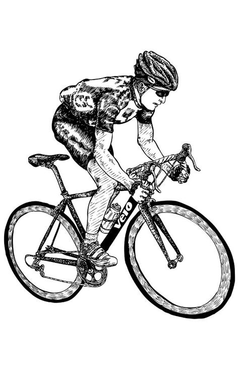 cyclist drawing  karl addison