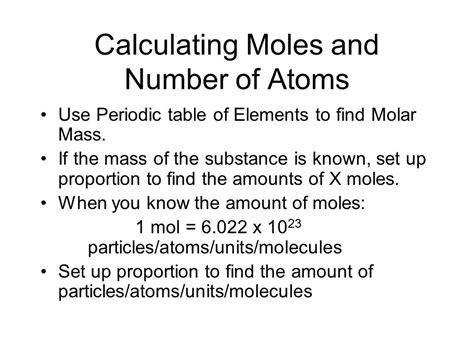 Find Moles Periodic Table  Periodic & Diagrams Science