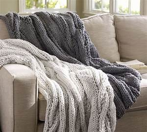 chunky cable knit throw crochet and knit With chunky knit blanket pottery barn