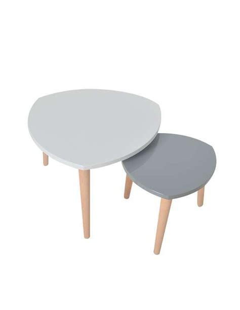 cuisine jaune et grise table basse gigogne blanc gris le bois chez vous