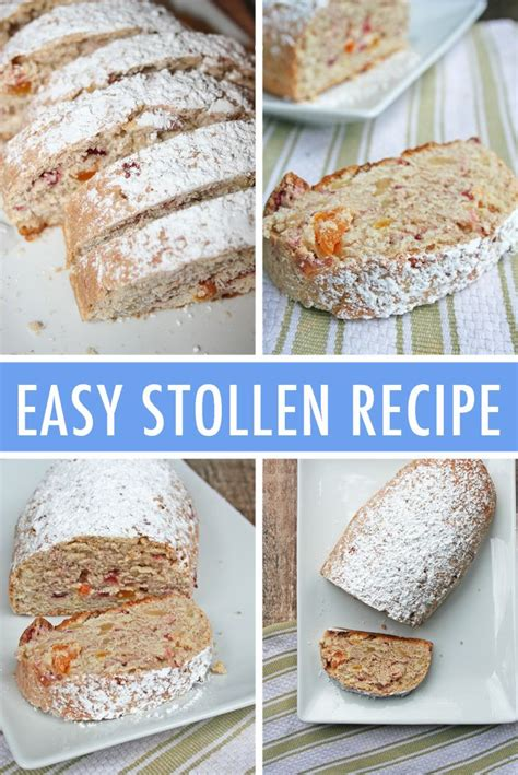 Let cool till just warm enough to spread. A Simple Homemade Stollen Holiday Bread Recipe | Stollen ...