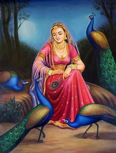 Portrait of a Rajasthani Queen Maharani Indian Traditional