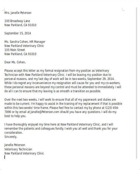 sample resignation letter  regret  examples