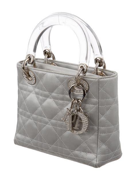 christian dior satin mini strass lady dior bag handbags chr  realreal