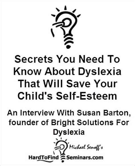 19937 Self Esteem Shop Coupon by Secrets You Need To About Dyslexia That Will Save