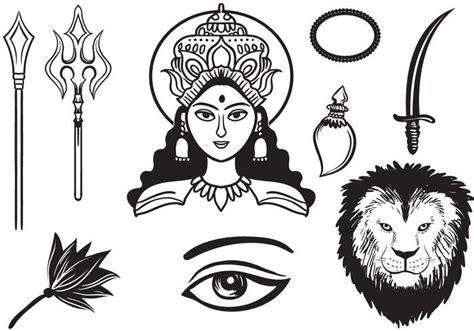 Free Maa Durga Face Vector