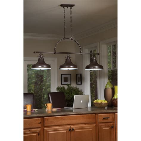 hanging lighting fixtures for kitchen quoizel er353pn emery transitional kitchen island 6994