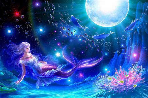 Mermaid, 3d, Abstract, Animal, Anime, Anime Girl